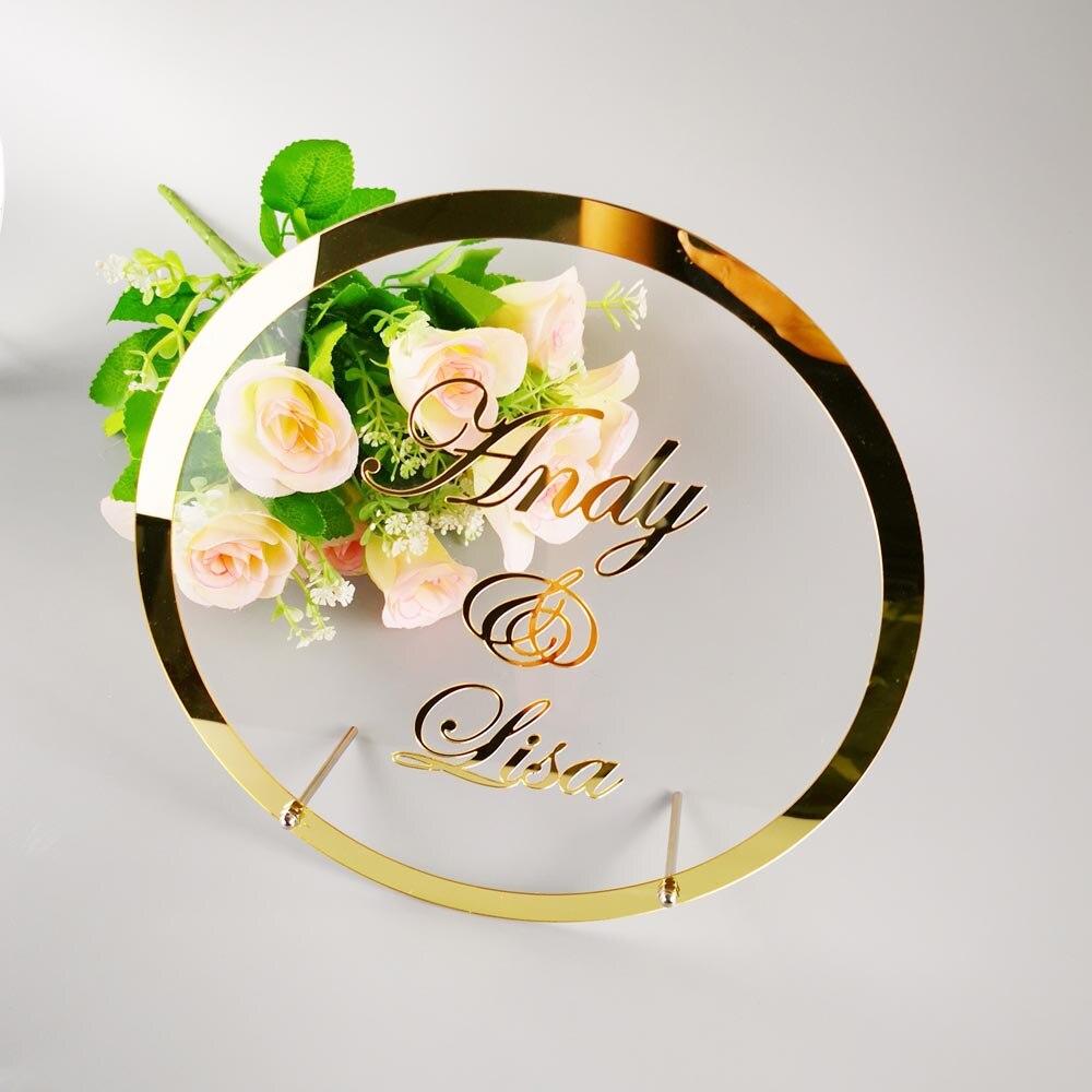 Placa personalizada do favor da decoração da festa do sinal da palavra dos hóspedes com prego qualquer idioma quadro personalizado do espelho do nome da noiva do casamento