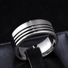 8mm rayure titane bande brossé anneau solide anneau pour hommes et femmes rayure titane bande brossé bague de mariage solide bague de mode