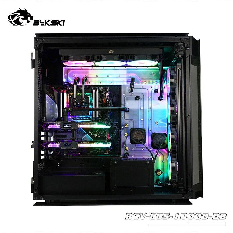 Tablero acrílico de BYKSKI para caja de ordenador Corsair 1000d, depósito de refrigeración por agua, soporte combo DDC pump, rbw light