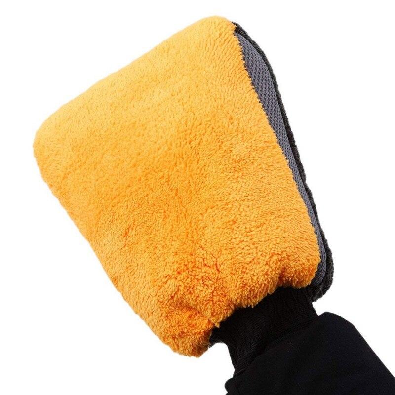 Guantes de lavado de coches resistentes al agua de terciopelo Coral de doble cara, guante de limpieza suave, guante de lavado, nuevo