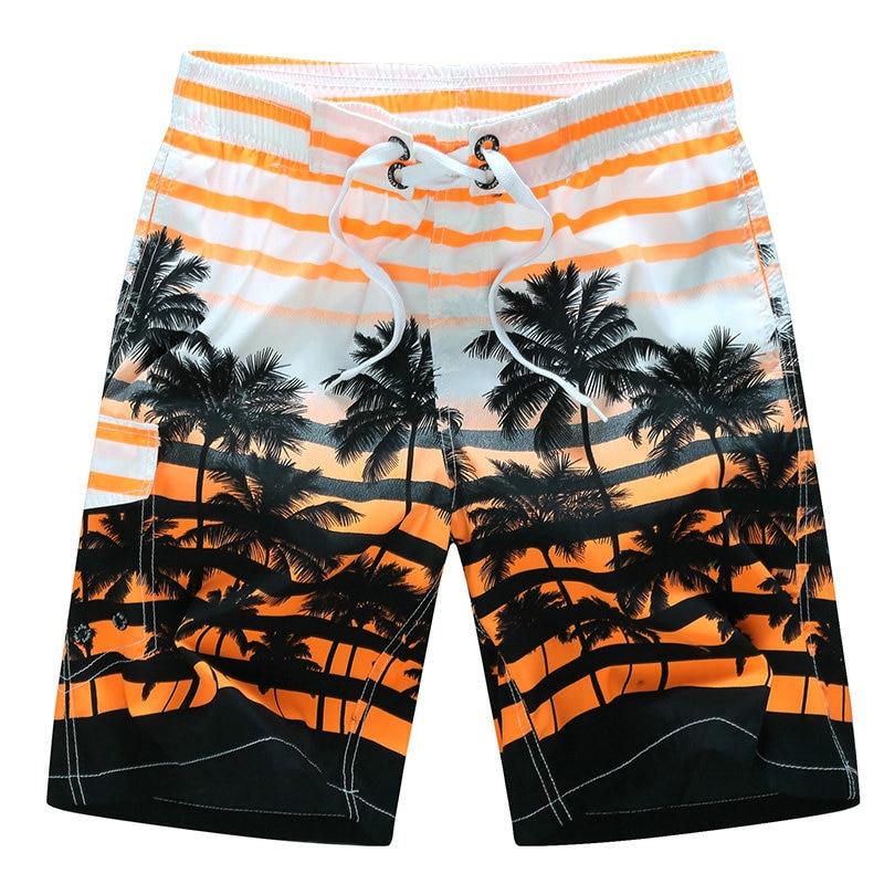 2020 Summer Men Beach Shorts Quick Dry Board Shorts Men Holiday casual fashion Coconut tree print short masculino M-6XL