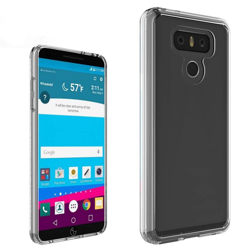 Funda transparente de TPU/PC para LG G6 H870 H871 H872, carcasa resistente a los arañazos, funda protectora a prueba de golpes, funda para teléfono Air Cushion Tech
