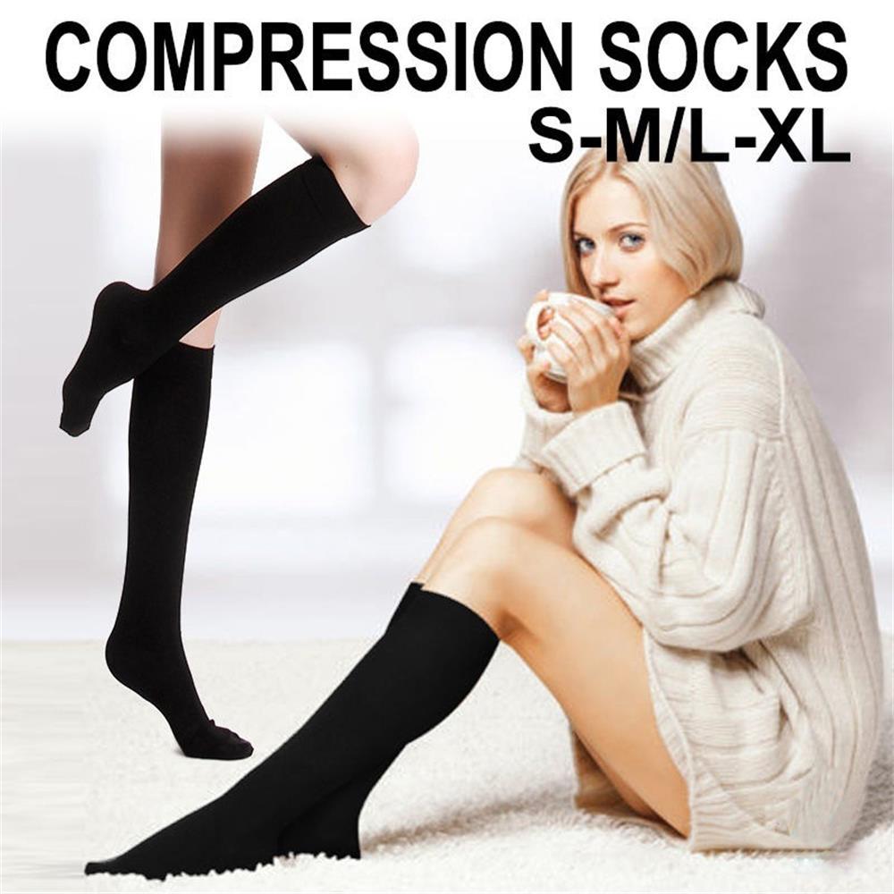 1 par de calcetines de compresión Unisex antifatiga, calcetines de viaje antifatiga hasta la rodilla, calcetín para fatiga, recién llegado