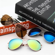 Gafas de sol para niños, niños, niñas, bonito Espejo, marco de bebé UV400 espejo piloto, gafas de sol de moda, gafas de sol de tamaño pequeño