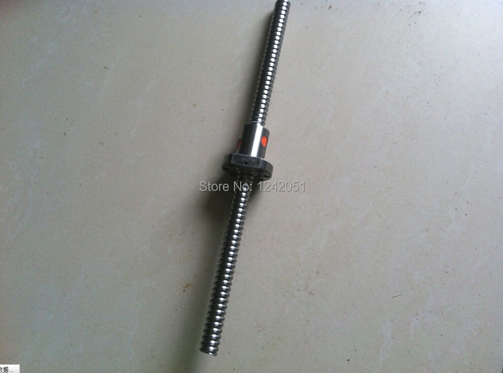 16 ملليمتر 1604 الكرة اللولبية توالت ballscrew 1 قطع SFU1604 l 500 ملليمتر مع 1 قطع 1604 شفة ballnut الكمبيوتر ل cnc جزء