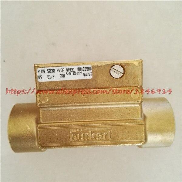 Sensor base  FLOW S030PVDF WHEEL M5 G1/2 FKM 00423980