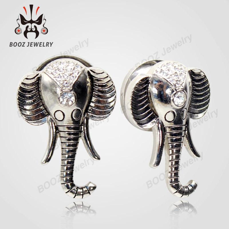 Kubooz дизайн слона, пирсинг в уши, туннели, пробки для тела, расширитель в ухо продавать по паре