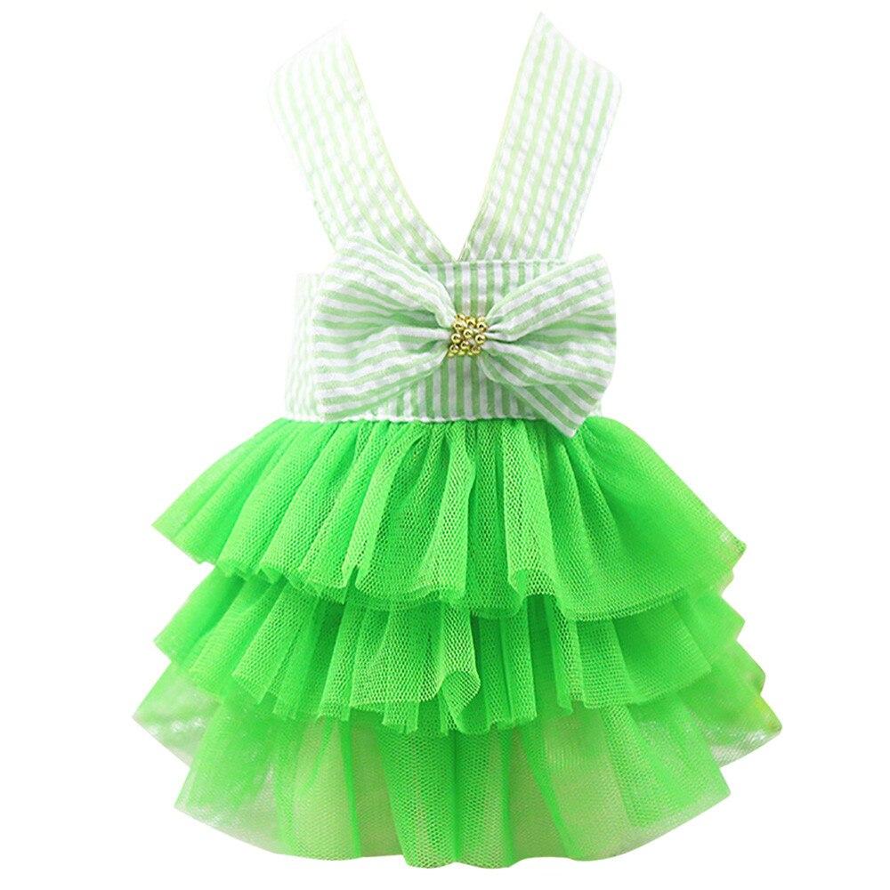 Falda de burbuja a rayas de encaje vestido de perro vestidos de princesa para perro cachorro vestidos de boda pequeños perros medianos accesorios para mascotas
