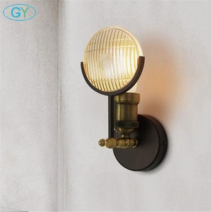 Designer's lamp Wall Light Fixture, Farmhouse Barn Warehouse Mini Glass Sconce Indoor Wall Lamp with black bronze finish
