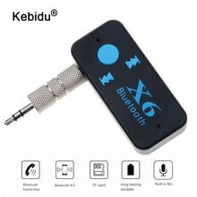 Kebidu 3 in 1 X6 USB Wireless Bluetooth Musik Audio Receiver 3,5mm Jack Dongle Adapter Auto Kit Audio Kabel für Aux Auto Telefon