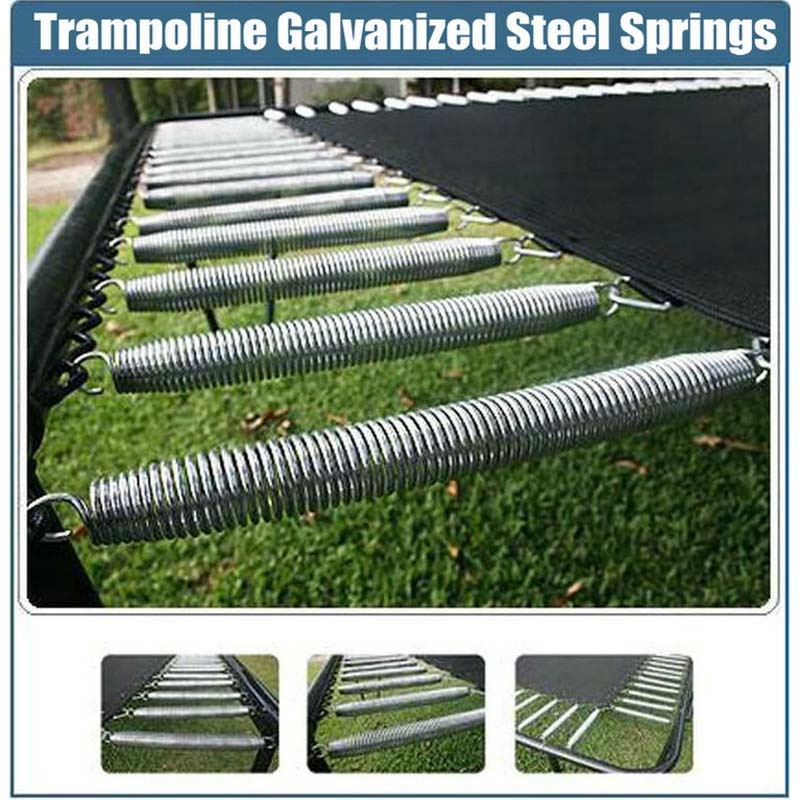 Resortes de acero galvanizado de reemplazo de trampolín con herramienta de instalación gratuita longitud 120/130/135/140 (mm) disponible