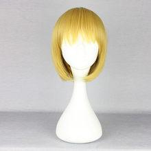 Armin Arlert Cosplay perruque cheveux jaunes Halloween attaque sur Titan Shingeki no Kyojin jeu de rôle