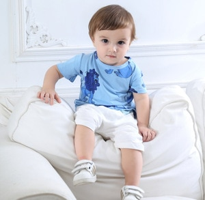 ins hot summer lion pattern boys girls t-shirts kids tops tees children's clothing cotton quality