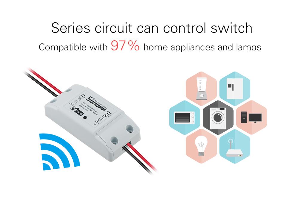 Sonoff dc220v Pilot Bezprzewodowy Przełącznik automatyki Inteligentnego Domu/Inteligentny WiFi Centrum dla APP Inteligentny Dom Steruje 10A/2200 W 6