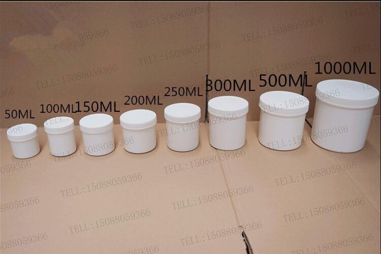 30 قطع شحن مجاني 50 100 200 ملليلتر الخالي زجاجات التوابل ختم عينة التعبئة والتغليف الحاويات البلاستيكية البيضاء