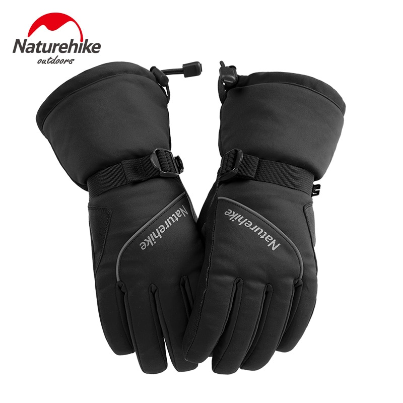 Naturehike, guantes de invierno para Snowboard para mujer, guantes de esquí a prueba de viento, impermeables, antideslizantes, guantes de esquí, algodón cálido
