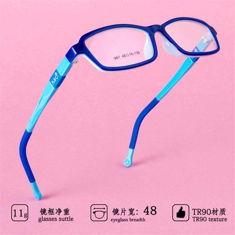 Los niños gafas de Marco ultraligero tr90 gafas de silicona cómodo templos estudiantes gafas graduadas para miopía 76