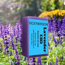 VICKYWINSON  Lavender Oil Handmade Soap Whitening Skin Lightening Hair Soap Body Face Acne Treatments Shrink Pores PRO Skin Care