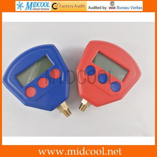 Цифровой ЖК-дисплей, манометр высокого и низкого давления для автомобильного кондиционера, хладагент R134a R22 R404A R410A R407C R