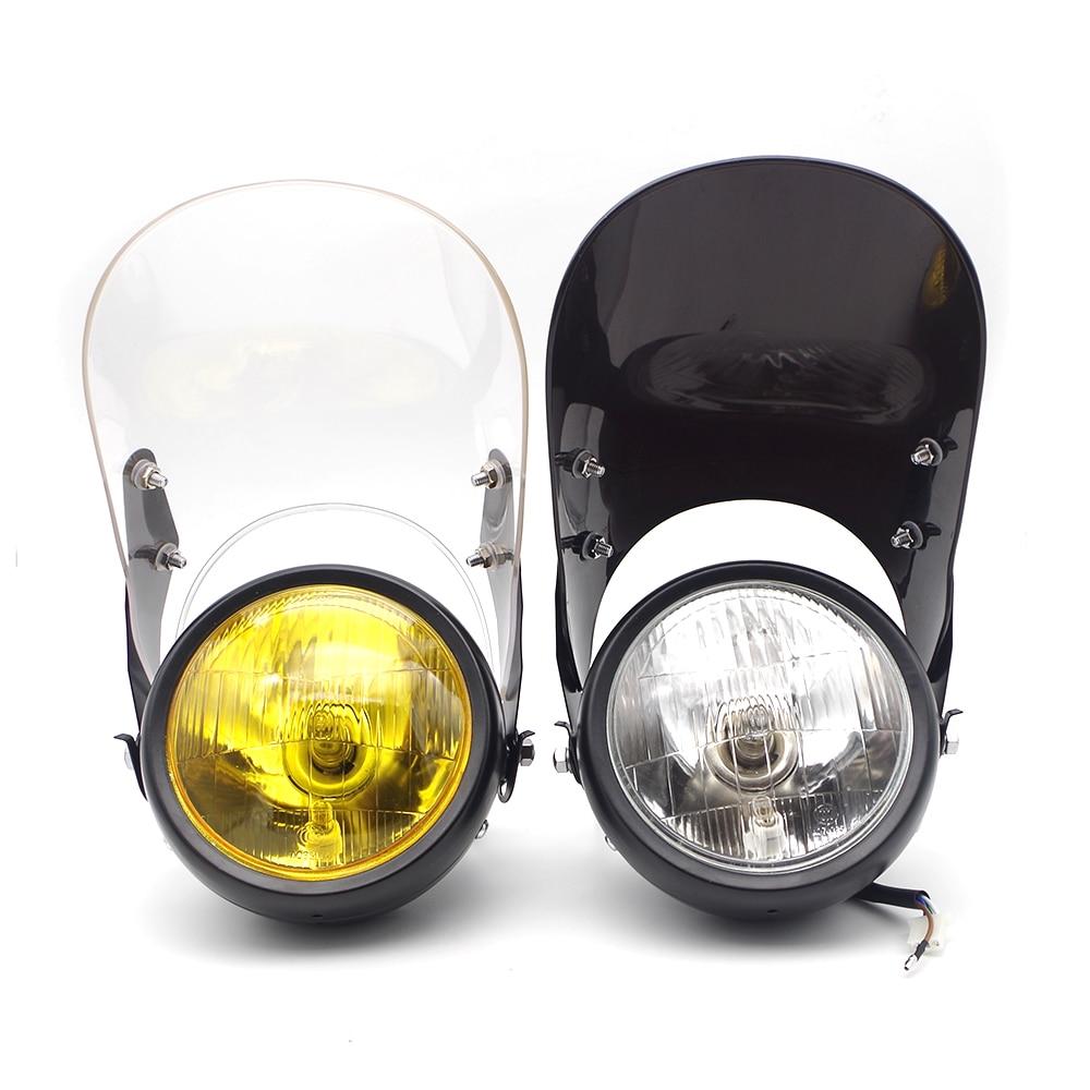 Universal moto rcycle linterna farol de milha halógena bombillos moto de la lámpara de la niebla para yamaha tmax honda xr400 honda alboroto