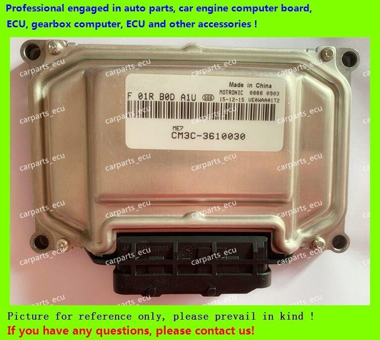 Para Fengxing Lingzhi M3 tablero de ordenador del motor del coche/ME17 ECU/unidad de Control electrónico/F01R00DA1U/F01RB0DA1U CM3C-3610030 ME7