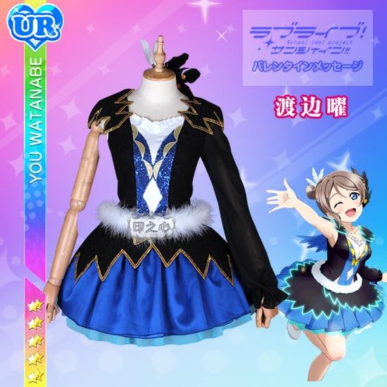 [STOCK] ¡2018 Anime Love Live Sunshine! Watanabe, disfraz de Cosplay, uniforme de Mundo azul para Halloween, envío gratis, nuevo.