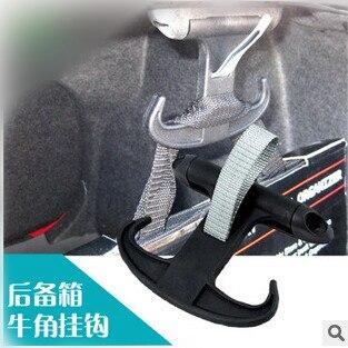 Perchero de gancho para bolsa de maletero al por mayor para VW Volkswagen Passat CC Jetta/Skoda Octavia/Audi A4 S4 B6 B7 A6 negro