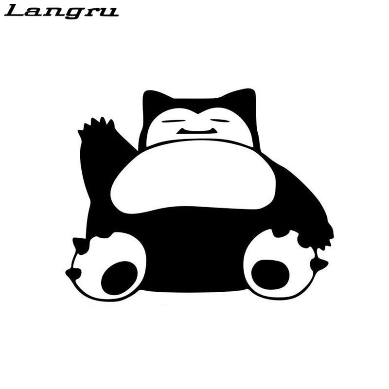 Langru Snorlax Pokemon carrocería de vinilo calcomanías Oso Grande pegatina de monstruo pegatinas accesorios para coche Jdm