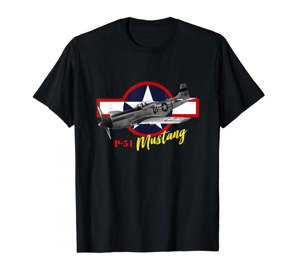 P-51 Mustang T Shirt Novo 2019 Quente de Verão Ocasional Impressão Impresso Verão Estilo Harajuku Topos de Roupas de Fitness Da Marca dos homens camisa