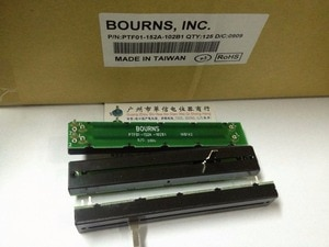 Original new 100% PTF01-152A-102B1 1KBX2 128MM dual mixer fader potentiometer B1K (SWITCH)