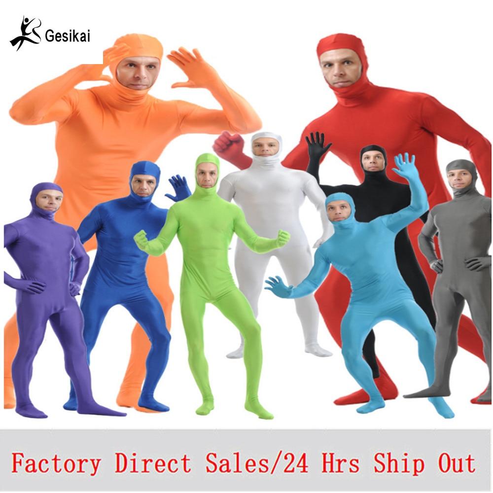 Боди из лайкры с открытыми глазами для взрослых, костюмы для Хэллоуина, мужские облегающие костюмы из спандекса, костюмы для косплея