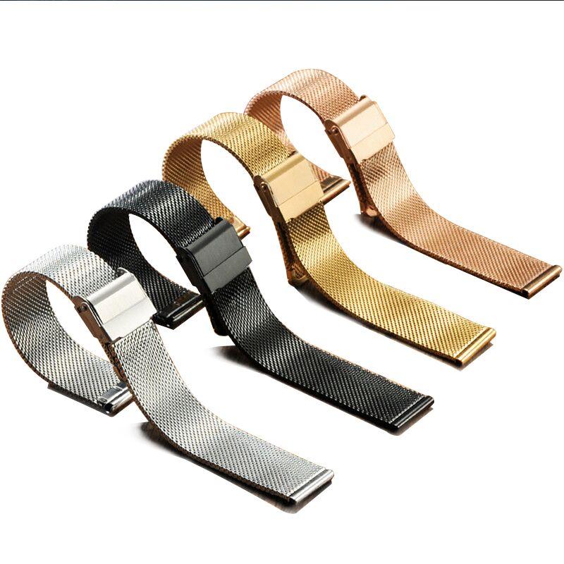 Edelstahl Band Für Nato armband 12/14/16/17mm Milanese Schleife Armband 18mm 20mm 22mm Uhr Band Für DW Metall Schnalle Bands