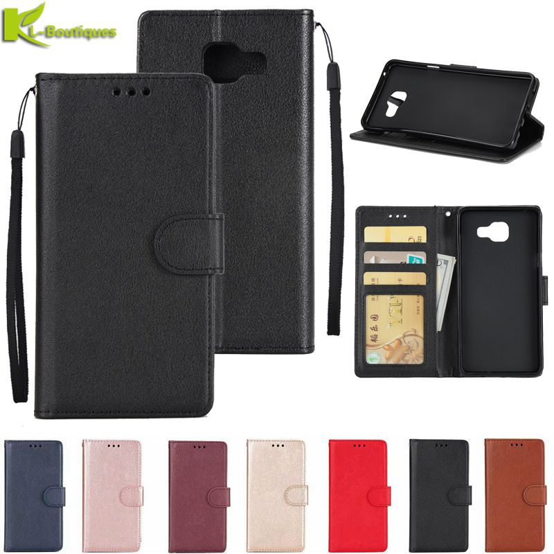 for Samsung Galaxy A5 2017 Leather Case on for Samsung A3 A5 A7 2017 2016 Cover Classic Style Flip W
