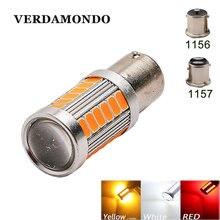 1 pçs 1156 1157 bay15d ba15s p21w 5730 led lâmpada da cauda do carro luz de freio auto reverso luz circulação diurna vermelho branco amarelo 12 v