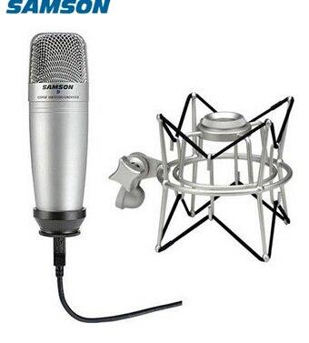 Samson C01U Pro микрофон + SP01 spider shock mount set USB studio большой мембранный конденсаторный микрофон с мониторингом в реальном времени