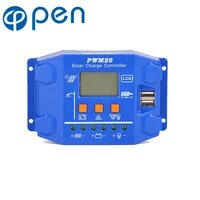 30a20a10a 12v 24v auto solar charge controller pwm controllers lcd dual usb 5v output solar panel pv regulator