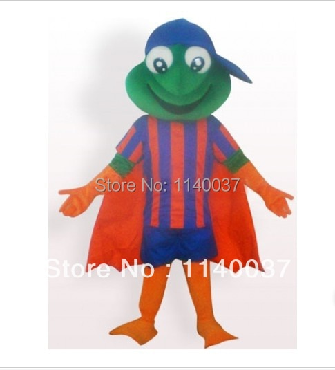 Mascota Super Rana con manto de felpa adulto mascota disfraz Superman serie Super Rana vestido de Fantasía Animal