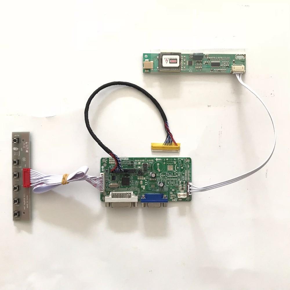 easy diy DVI VGA LCD Controller Board DIY kit for B141EW01 B141EW02 B141EW03 B141EW04 1280x800 CCFL LVDS 14.1 inch TFT LCD