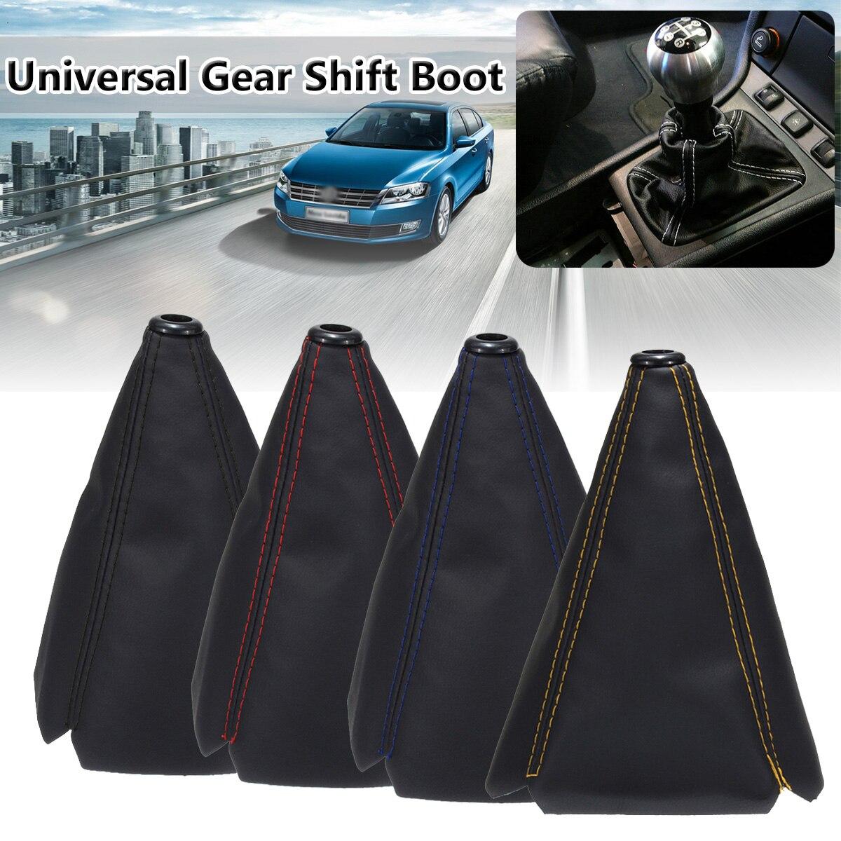 16mm universal couro do plutônio carro auto engrenagem shifter shift coleiras de fibra carbono do carro manual de engrenagem bota capa gaiter