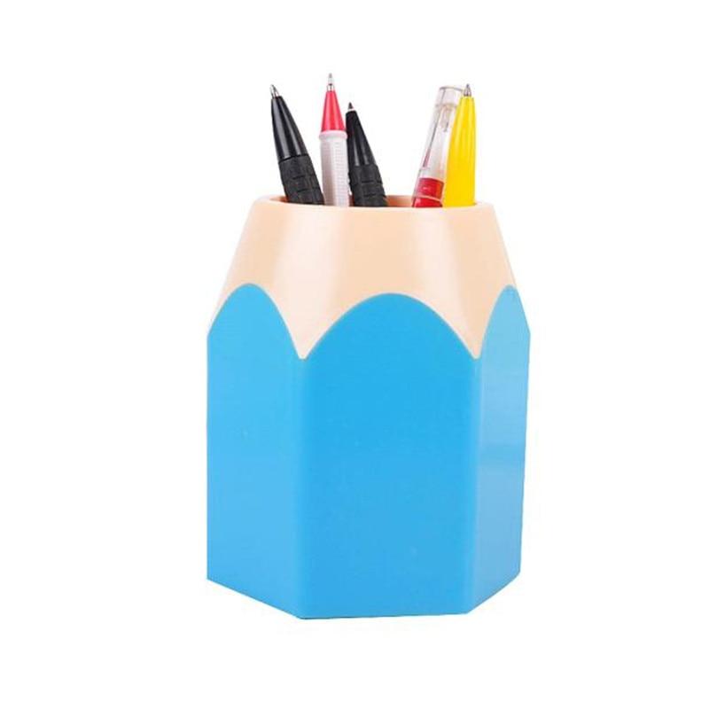 5 colors Makeup Brush Vase Pencil Pot Pen Holder Stationery Storage desk table organizing case container on sale