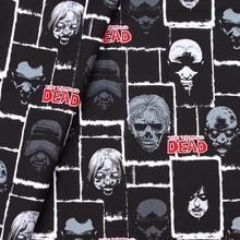 108cmx100cm Cotton Woven Fabric for textile, pathwork, cloth - Walking Dead Zombie Faces, The Walking Dead(235)