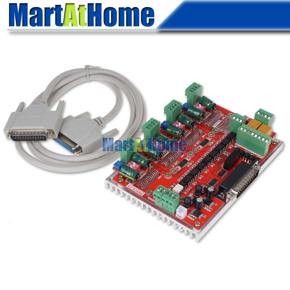 Tablero de Control de Motor paso a paso CNC de 4 ejes y tarjeta de controlador NV8727T4 12V-32V DC LPT Compatibilidad de puertos Mach2 Mach3 KCAM4 reemplazar LV8727