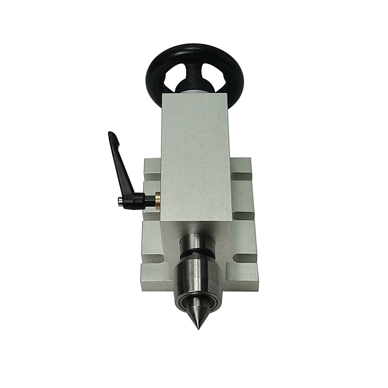CNC máquina de carpintería de 65mm de altura del centro de contrapunto 4 ejes MT2 torno de eje giratorio para fresadora CNC