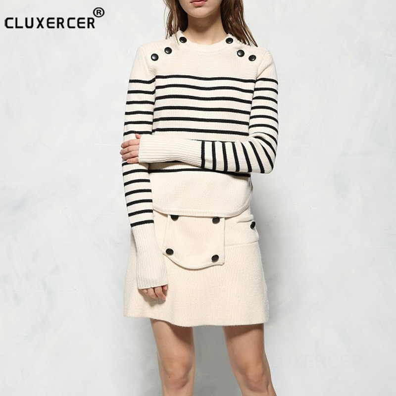 Женский модный комплект из двух предметов, Осенний трикотажный комплект с футболкой, повседневное облегающее платье в стиле пэчворк для оф...