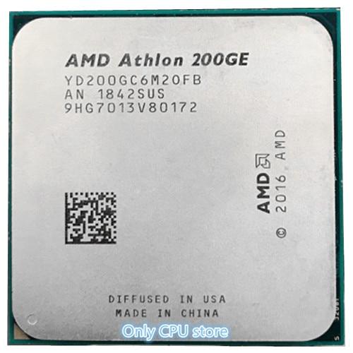 AMD200GE AMD Athlon 200GE поддерживает ASRock AB350 PRO4 Бесплатная доставка