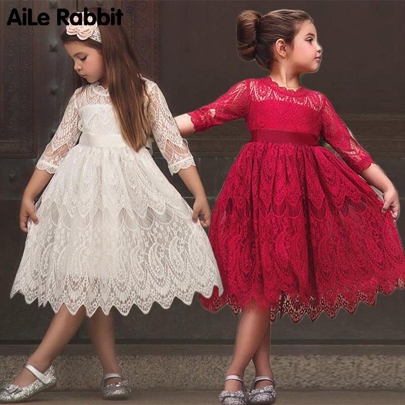 Vestidos para niñas, vestido de princesa con encaje, vestido de fiesta, disfraz para niñas, Vestidos de Niña