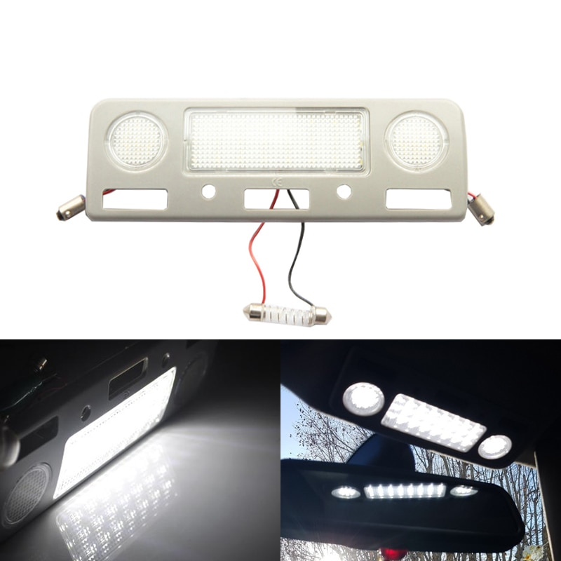 1Piece Xenon White Led Dome Roof Light For BMW E39 M5 E38 5 7 Series 525i 528i 540i 740il Center Interior Light Car-Styling