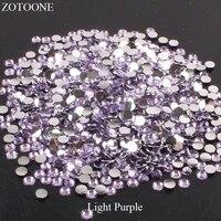 crystal non hotfix stones for clothes decoration flatback resin light purple rhinestones strass crystal applique diy nail art e