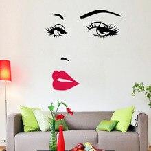 Heißer Rosa Lippen Zitate Salon Face Lippen Wandaufkleber Home Decor Wohnzimmer Vinyl Wandtattoos Innen Kunst Wandbilder Diy Poster