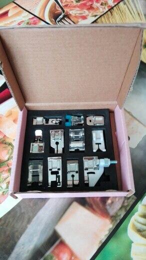 Prensatelas para máquina de coser multifunción, Juego de 11 Uds., piezas de repuesto para prensatelas, 11 Uds.